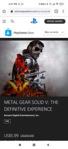 PSN: Metal Gear Solid V DEFINITIVE EDITION PS4