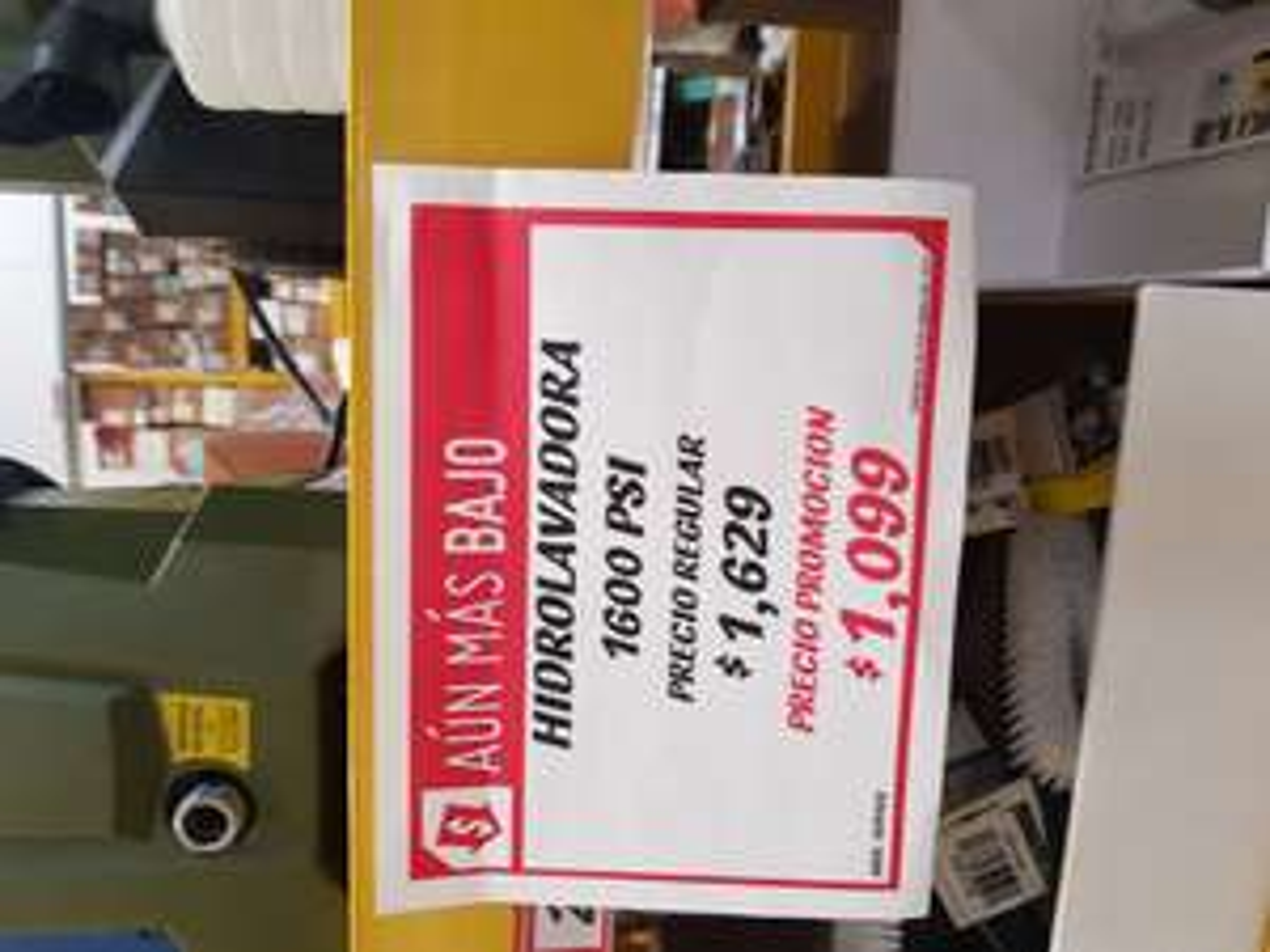 Sodimac: Hidrolavadora Bauker 1600 PSI a $1099 pesos