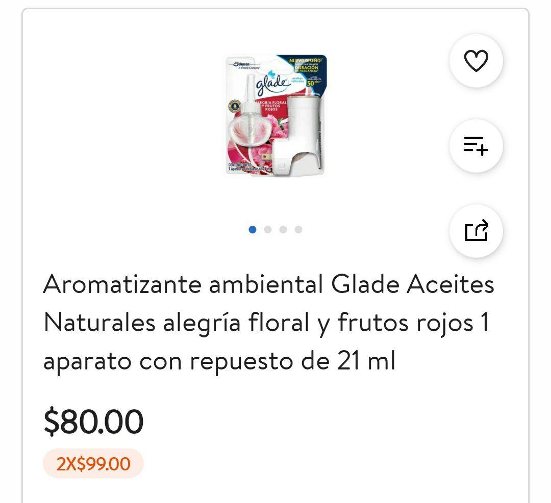 Walmart: 2 x 99 Glade Aromatizante Ambiental