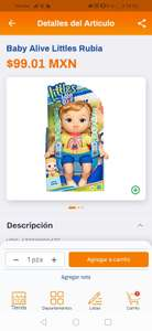 Chedraui: Baby Alive little rubia