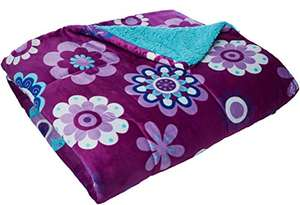 AMAZON:Colchas Concord Katya Cobertor Borrega King Size, color Morado