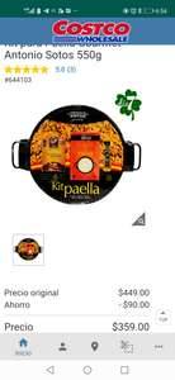 Kit para paella costco