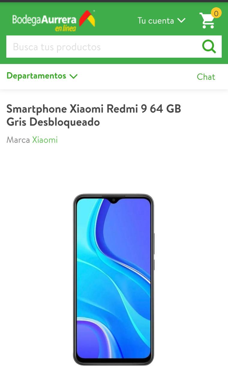 Bodega Aurrera: Xiaomi redmi 9 64gb