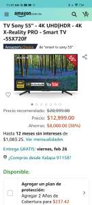 Amazon: Smart TV Sony