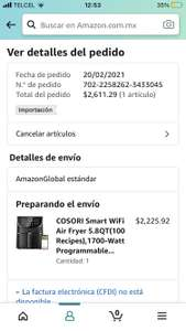Amazon: Freidora de aire wifi cosori