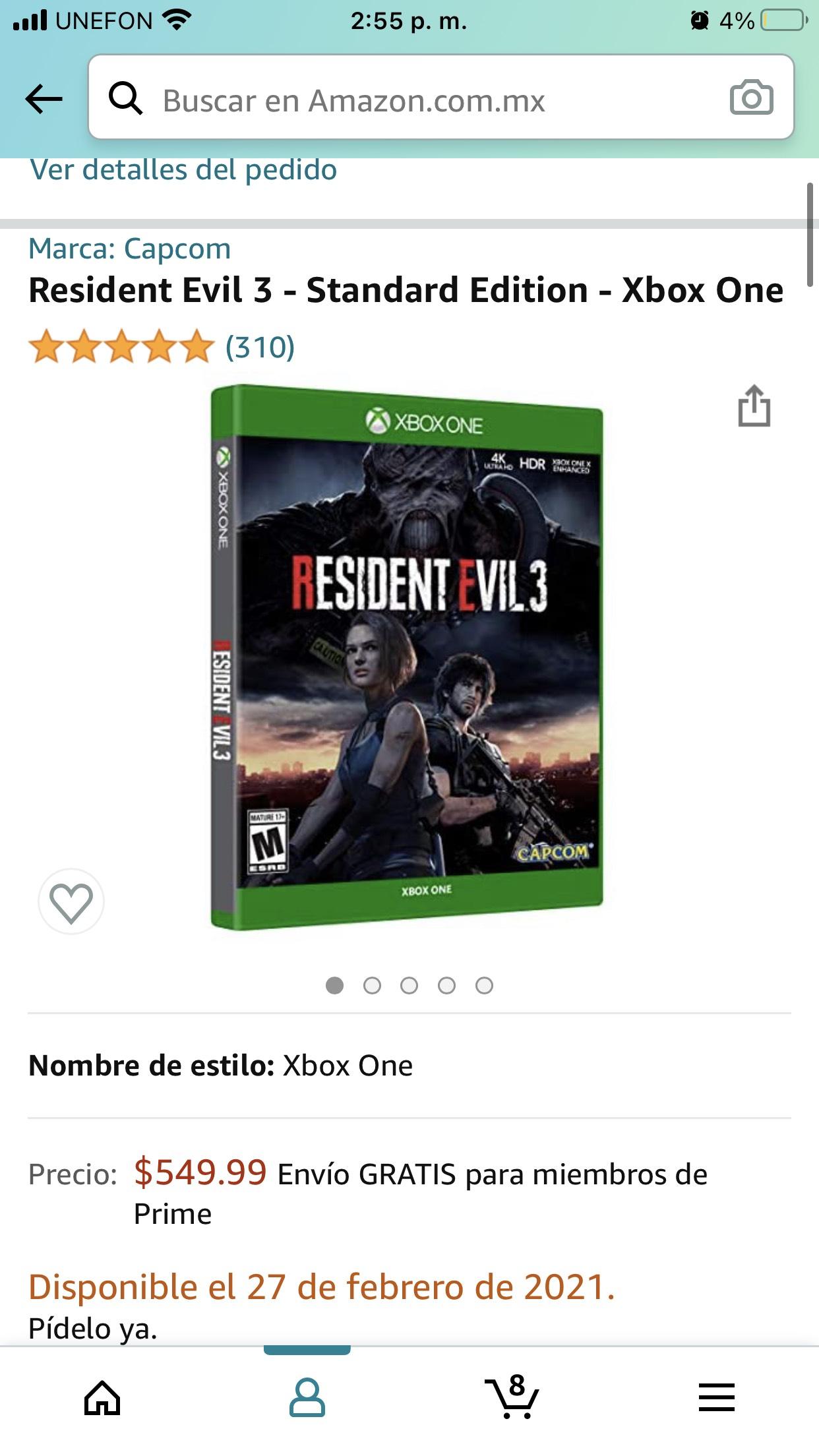 Amazon: Resident Evil 3 - Standard Edition - Xbox One