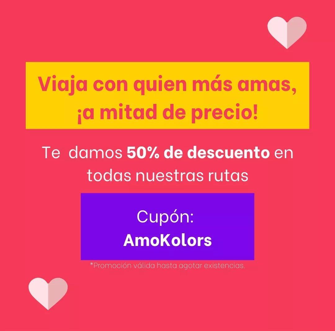 KOLORS: 50% de descuento a sus cuatro destinos, Puebla, Pachuca, Xalapa, Veracruz y CDMX.