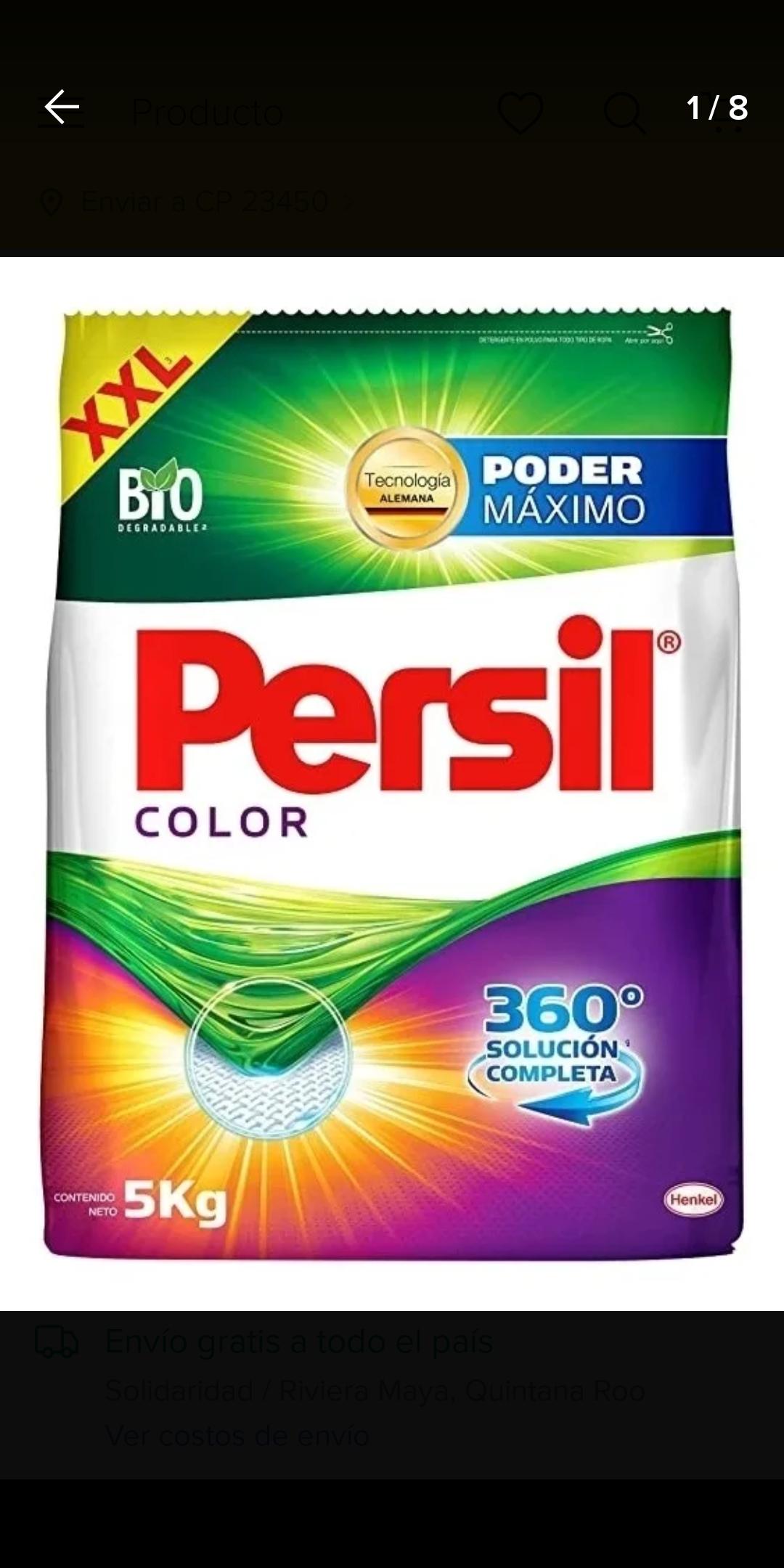 Chedraui: Los cabos detergente persil color 5 kg