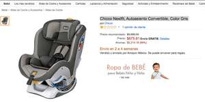Amazon: Chicco Nextfit, Autoasiento Convertible, Color Gris