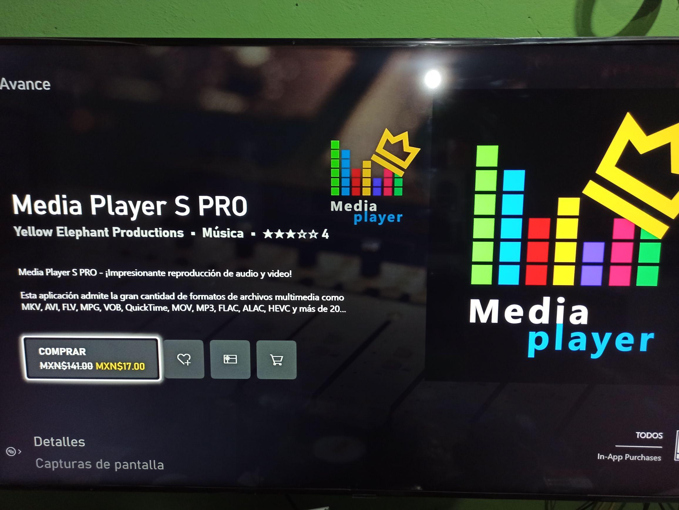 Media Player S Pro para Xbox y Windows