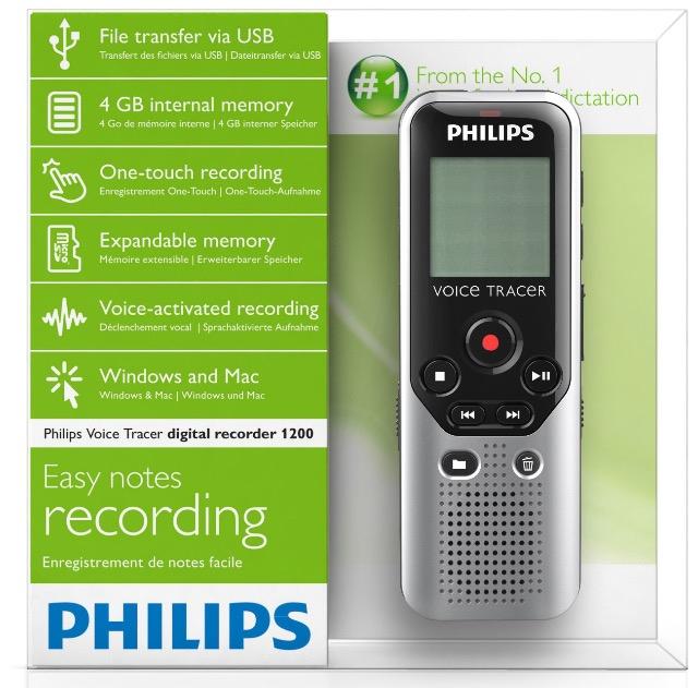 Amazon: Philips DVT-1200 Grabadora de voz barata a $746