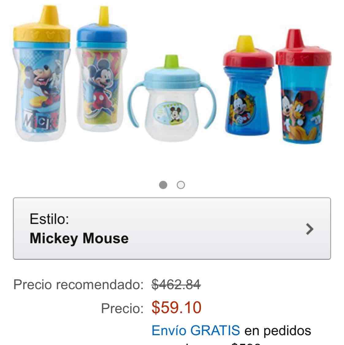 Amazon: The First Years Paqetp MCY Paquete Mickey de Vasos Entrenadores por Etapas, 5 Piezas, azul