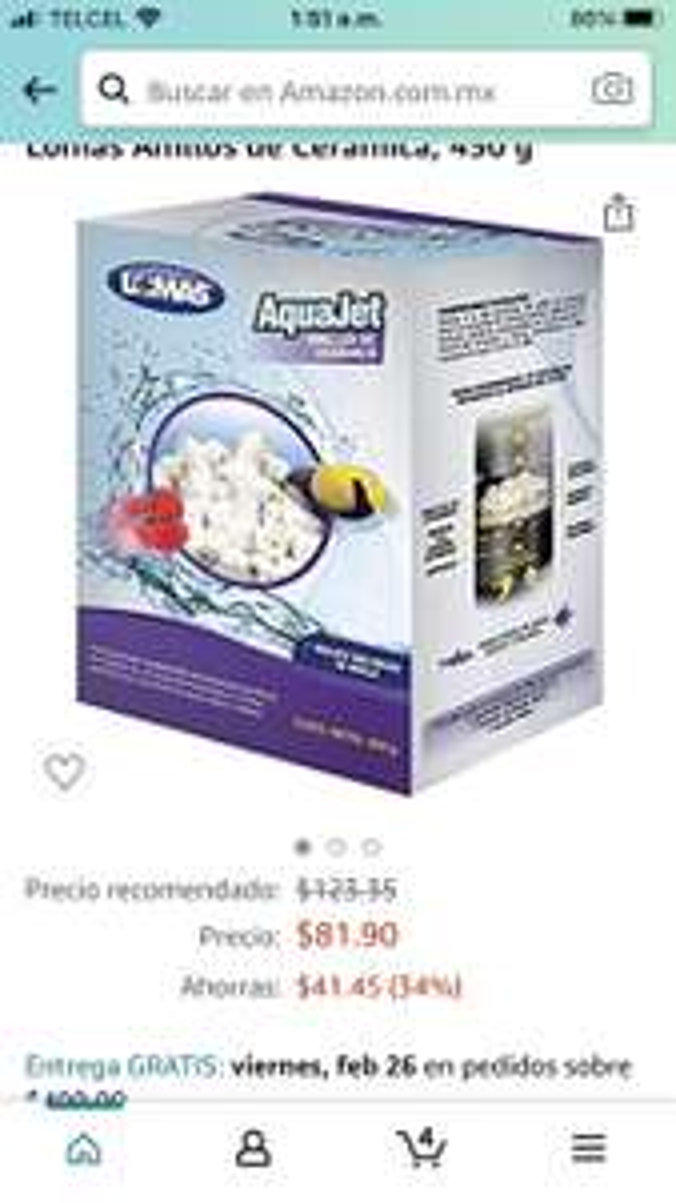 Amazon Lomas Anillos de Cerámica, 450 g para acuarios
