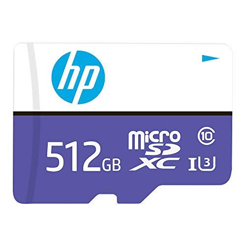Amazon: microSDXC HP de 512 GB MX330 Clase 10 U3, velocidades de Lectura de hasta 100 MB/S