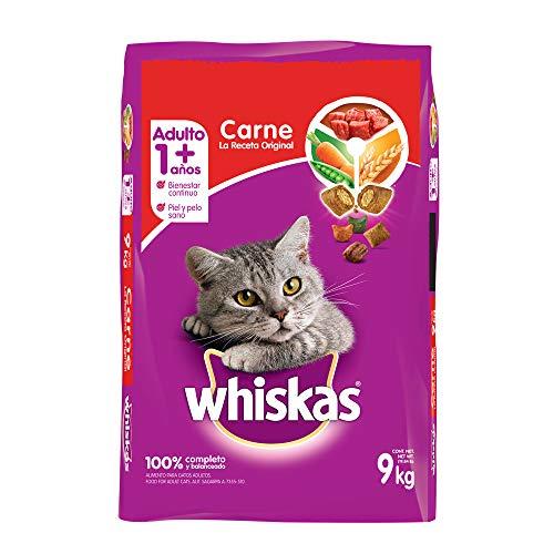 Amazon: Whiskas Gatos Adultos. Sabor Carne (Receta Orginal) 9Kg (Prime)