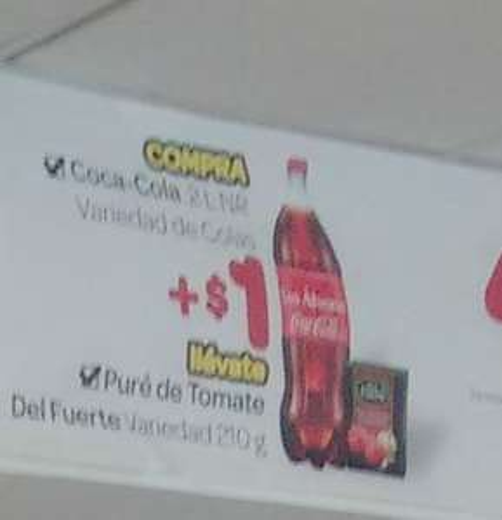 Oxxo: En la compra de una Coca Cola de 2 o 2.5 lts + 1 pesito te llevas una salsa de tomate