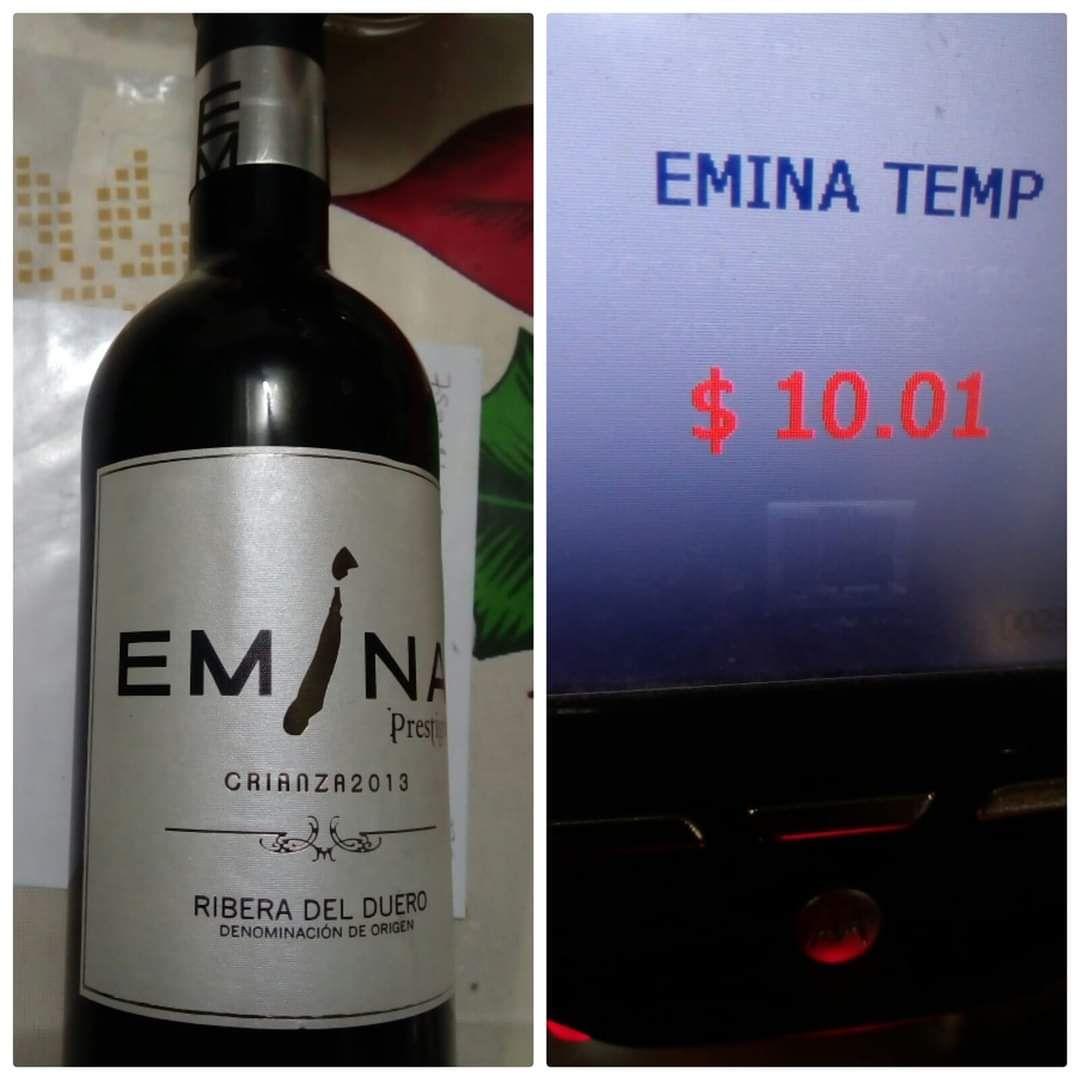 """Walmart galerías Saltillo, Vino tinto """"Emina"""" tempranillo a $10 pesitos"""
