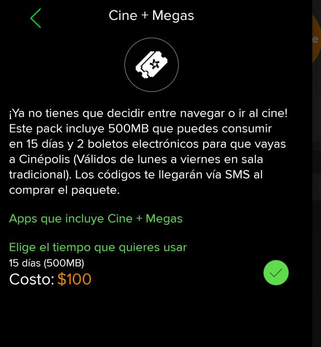 """Weex: Nuevo micropaquete """"Cine + Megas"""" 2 boletos para sala tradicional y 500Mb"""