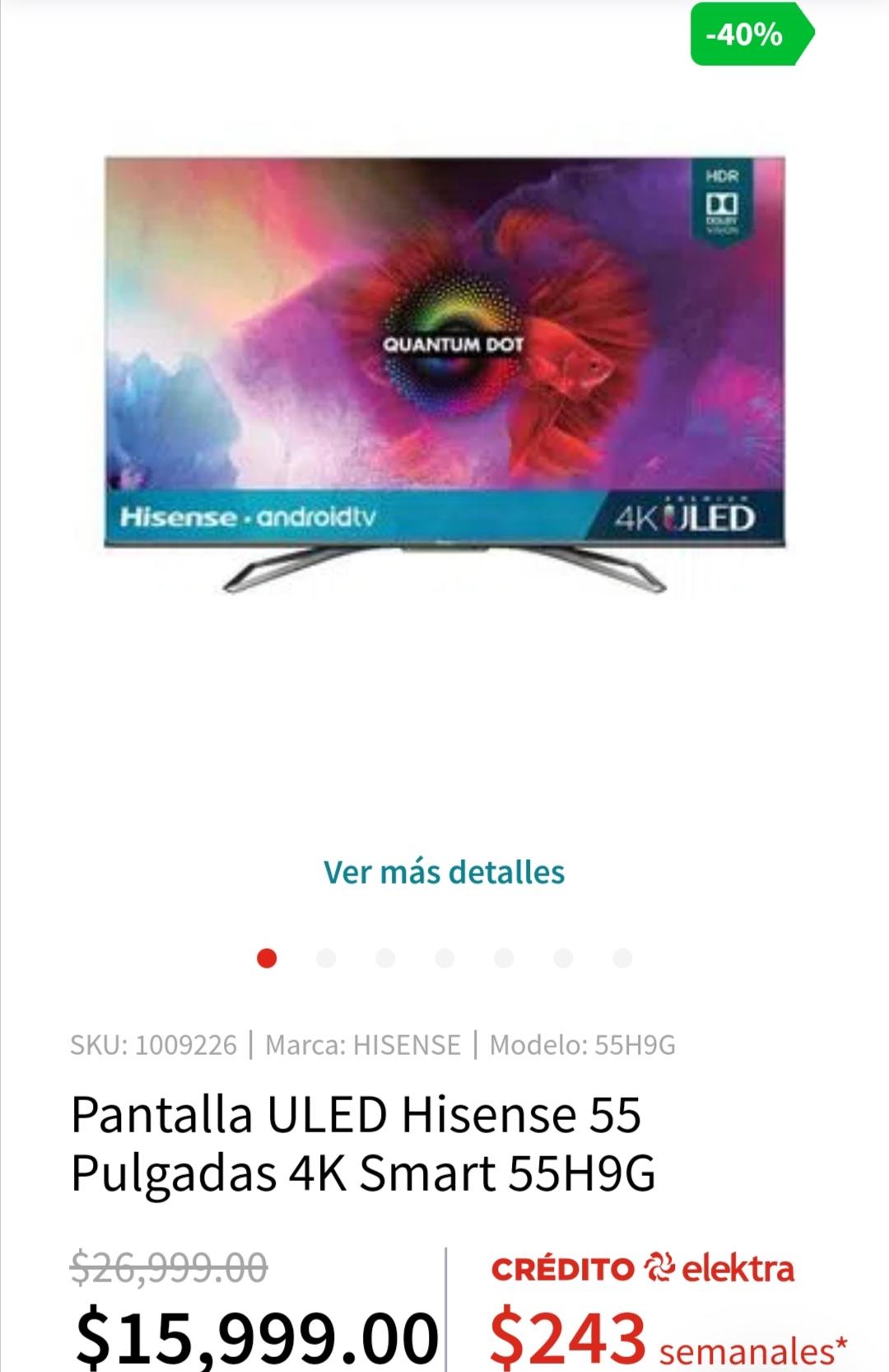 "Elektra: TV Hisense H9G 55"""