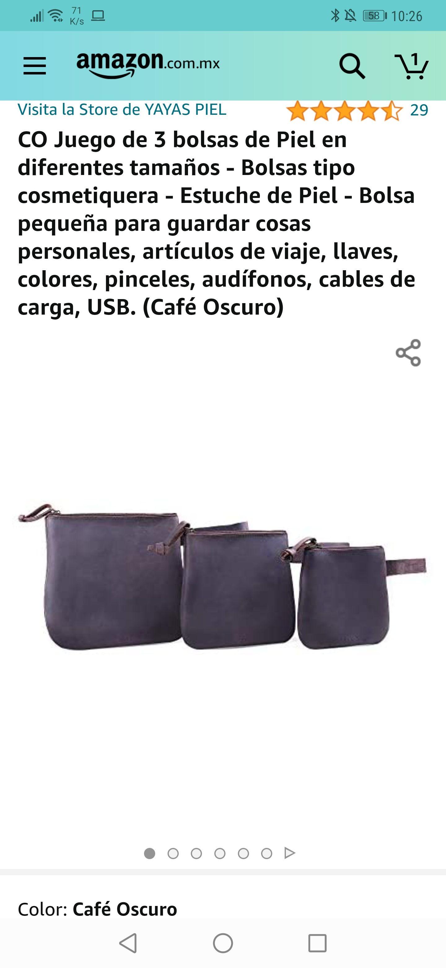 Amazon : 3 bolsas de piel de calidad diferentes tamaños menor precio histórico según keepa