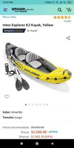 Amazon: Intex Explorer K2 Kayak, Yellow