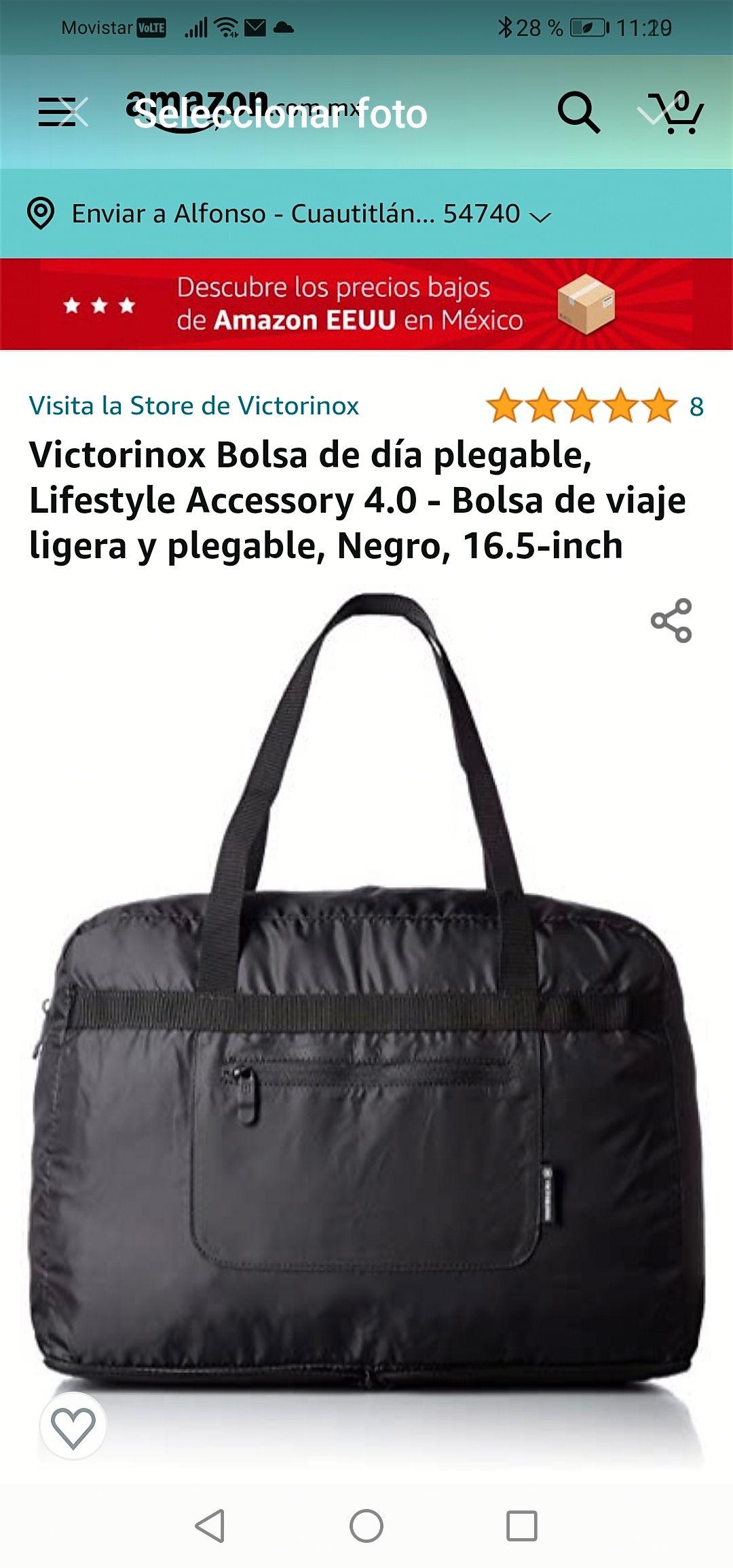 Amazon : bolso plegable Victorinox