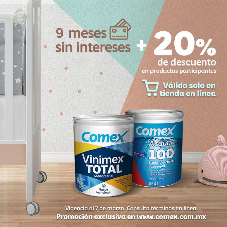 Comex: 20% de descuento en Vinimex® TOTAL Antibacterial, Acqua 100® y accesorios