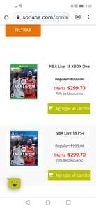 Soriana Juego NBA Live para Ps4 y xbox one