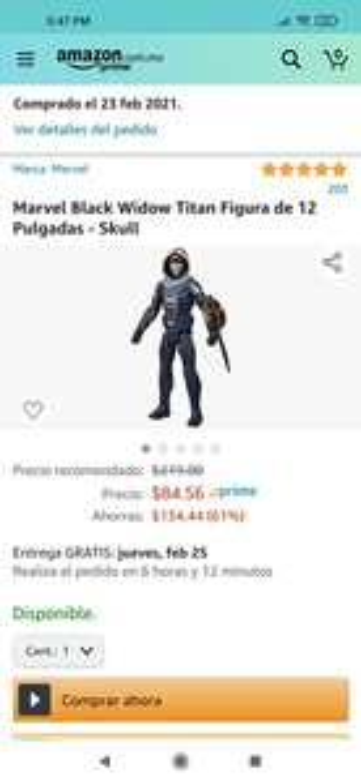 Amazon: Taskmaster black widow