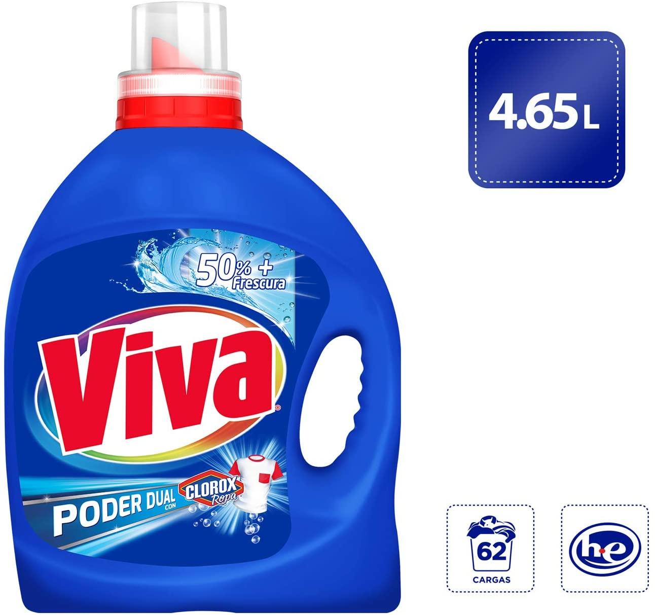 Amazon: Viva Poder Dual con CLOROX Ropa Universal 4.65 L
