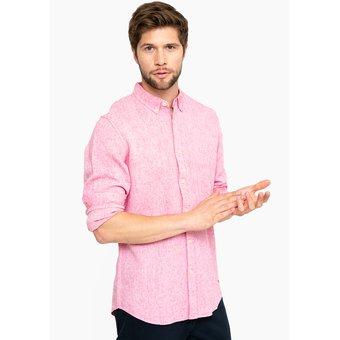 Linio Camisa Lino Basement para Hombre - Rojo