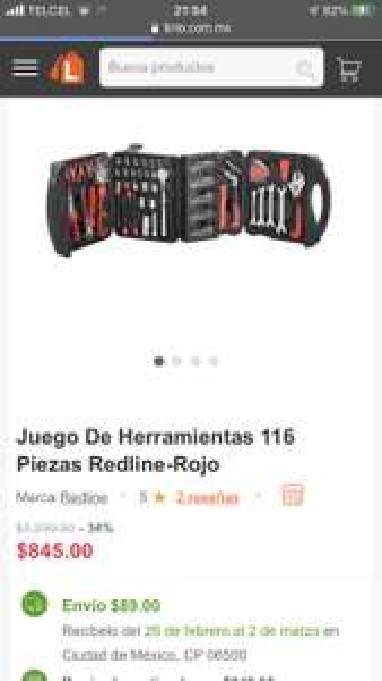 Linio: Juego De Herramientas 116 Piezas Redline-Rojo
