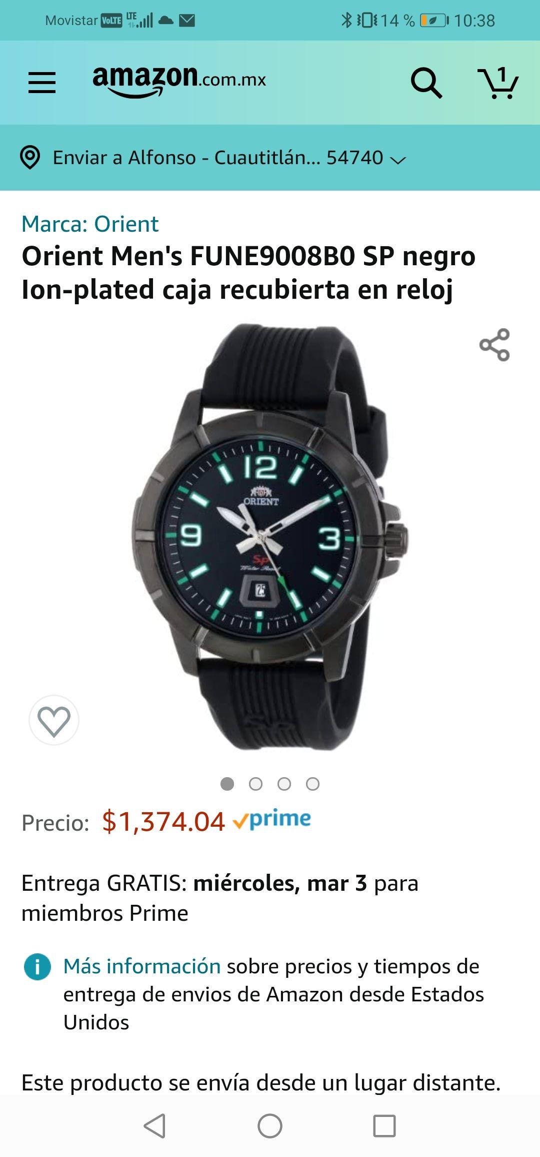 Amazon: Reloj Orient Deportivo