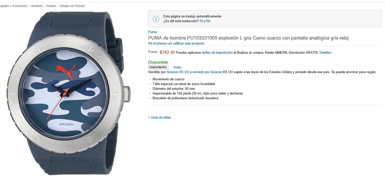 Amazon.MX; Relojes y mas articulos  envío gratis todos vendios por Amazon USA y MX