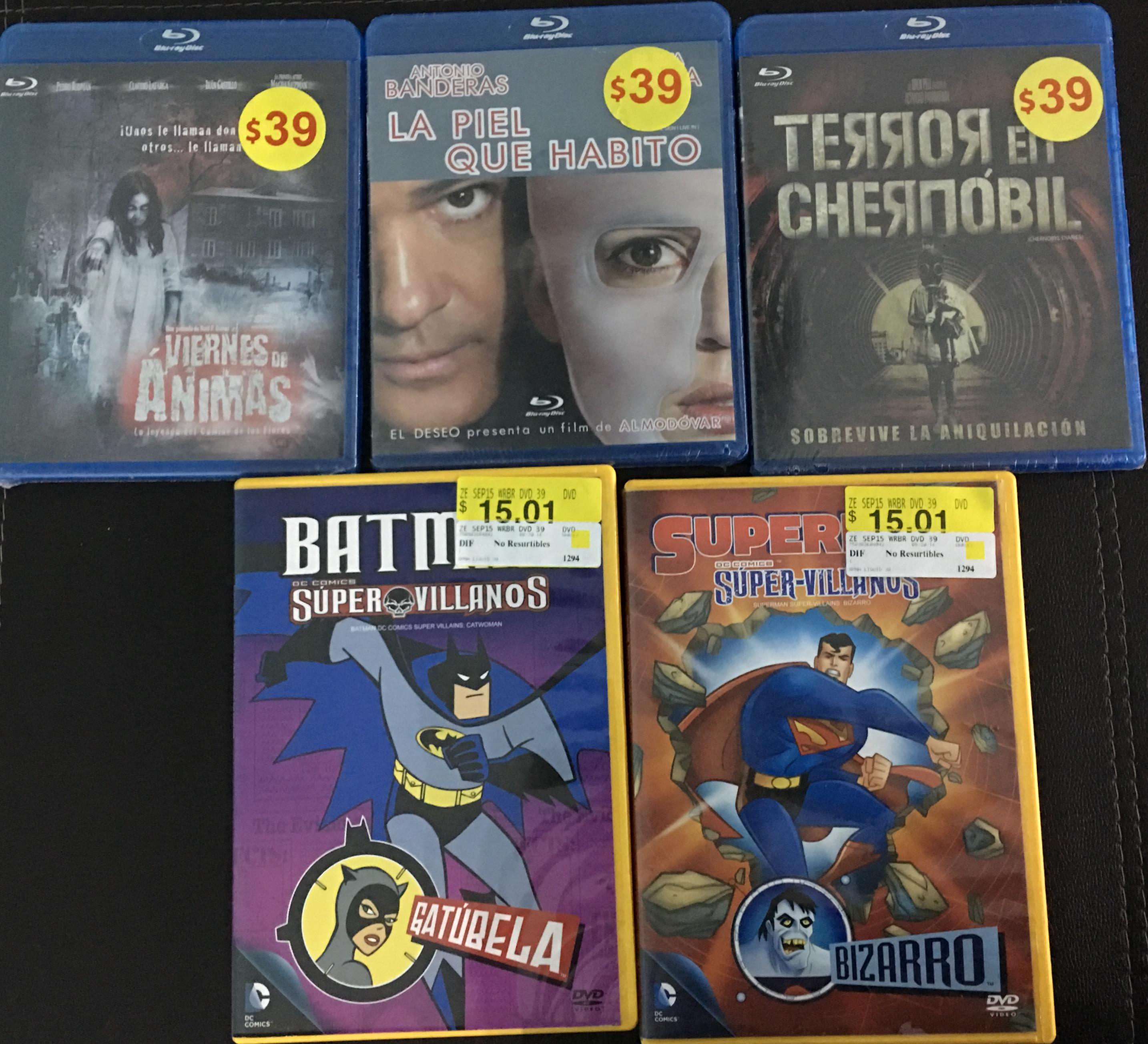 Walmart: Varias películas en liquidación