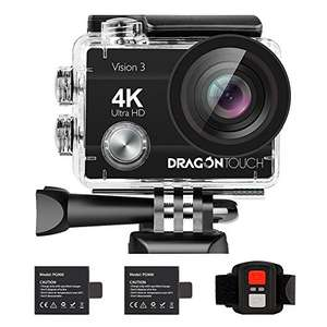 Amazon: Dragon Touch 16MP Cámara de Acción Vision 3 Cámara de Video 4K
