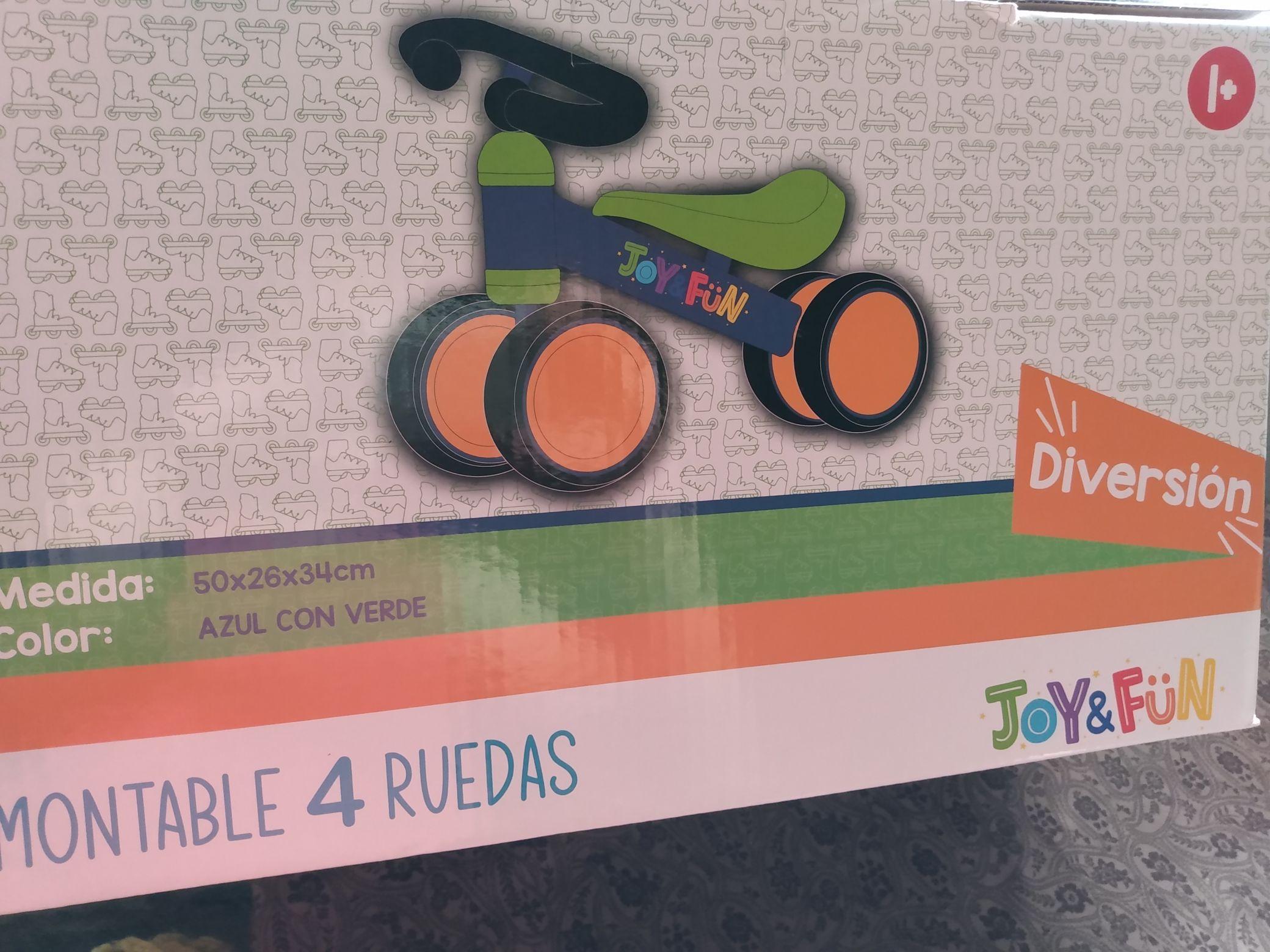 Chedraui : montable 4 ruedas joy fun