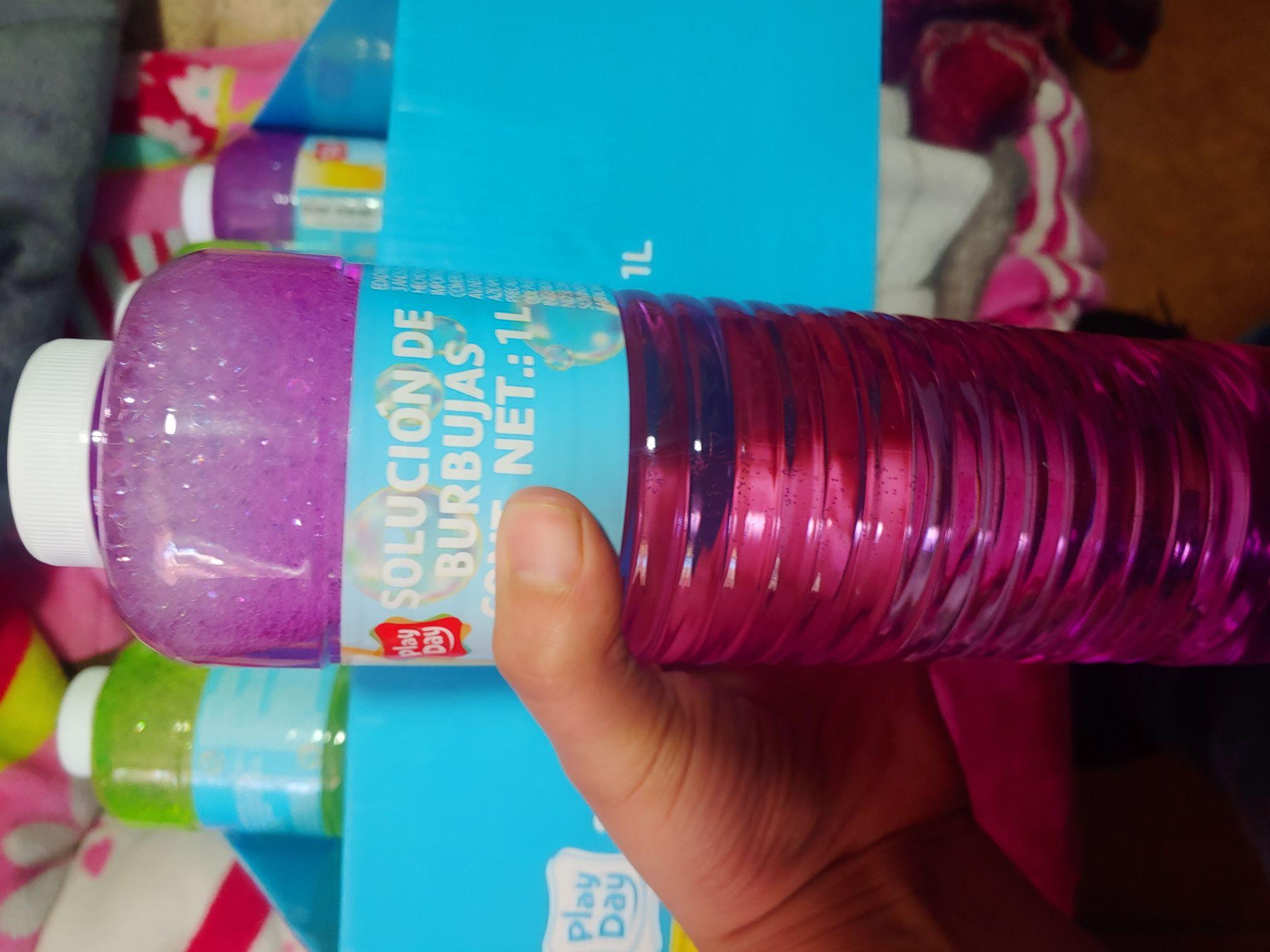 Liquido para burbujas 1litro / Bodega Aurrera