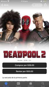iTunes: Deadpool 2 4k + Dolby Atmos