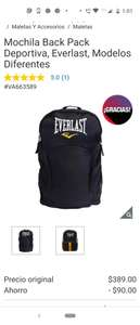 Costco Mochila Back Pack Deportiva, Everlast Naranja