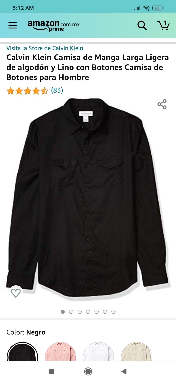Amazon Camisa Calvin Klein, mediana 340
