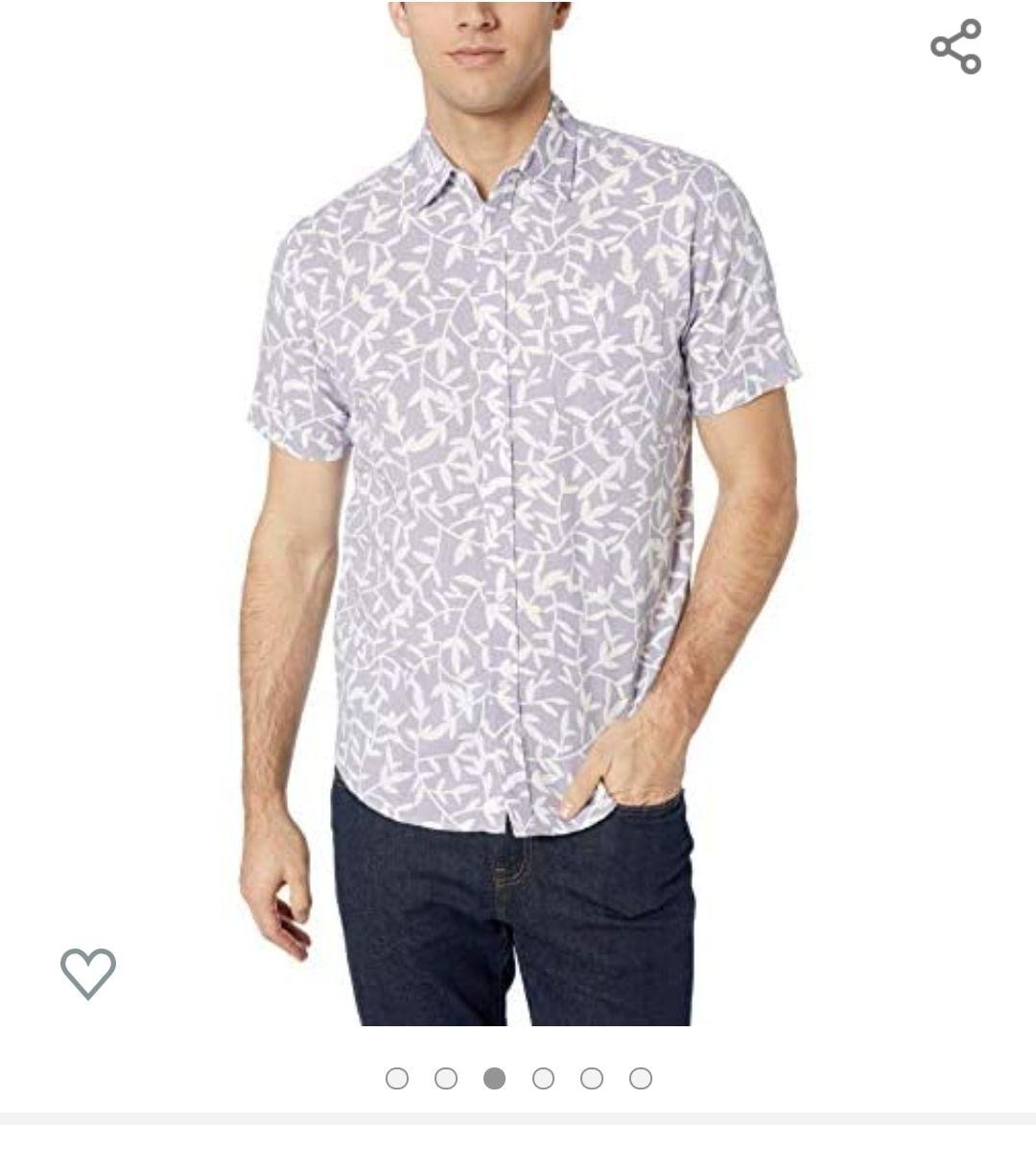Amazon: Camisa de algodón con lino x-ch (las tallas vienen un poco amplias)