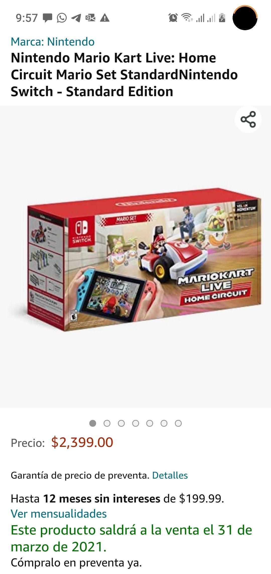AMAZON: Mario Kart Live Home Circuit c/Mario en OFERTA