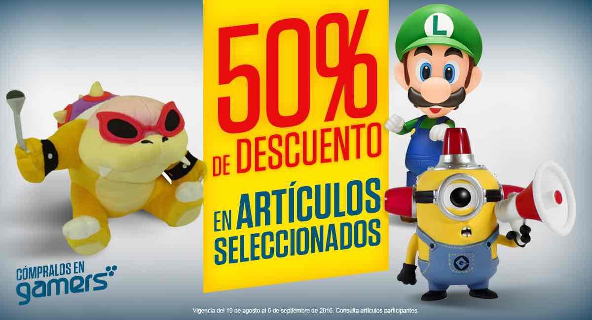 Gamers Retail Tienda Fisica: 50% de descuento en figuras y juguetes