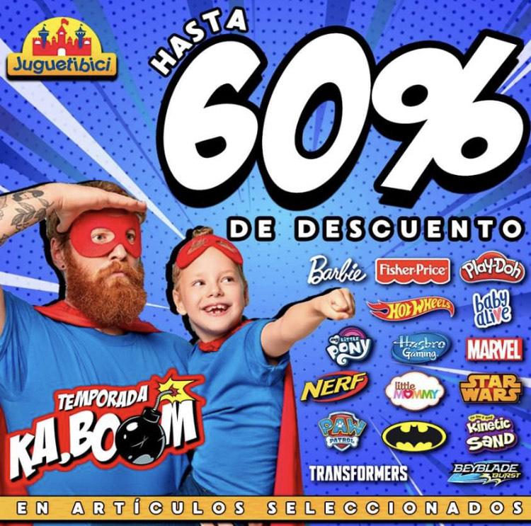 Hasta 60% en Juguetibici