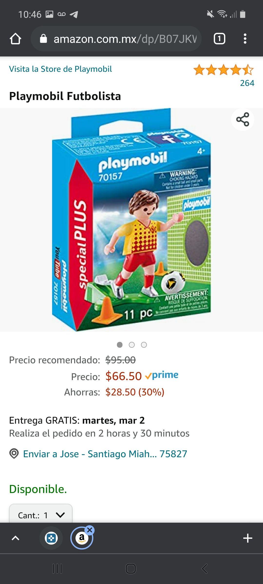 Amazon: Playmobil futbolista