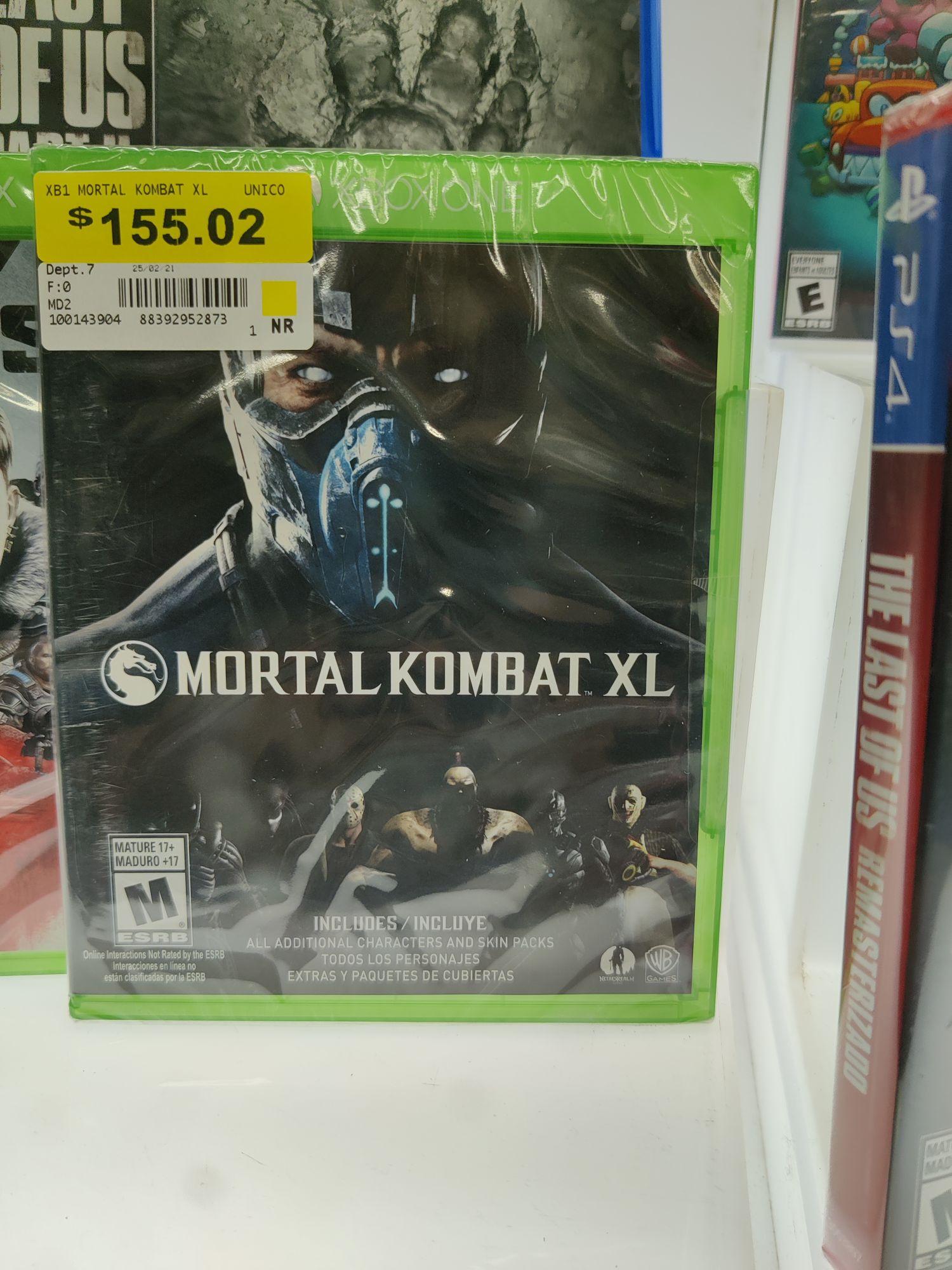 Walmart: Mortal Kombat XL segunda liquidación xbox