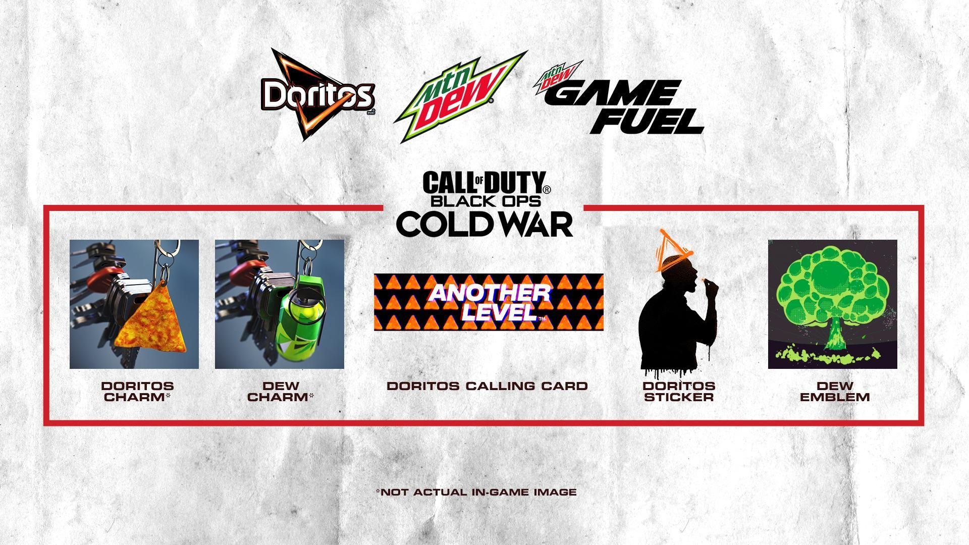 Mountain Dew y Call of Duty: Llaveros, tarjeta, sticker y emblema gratis