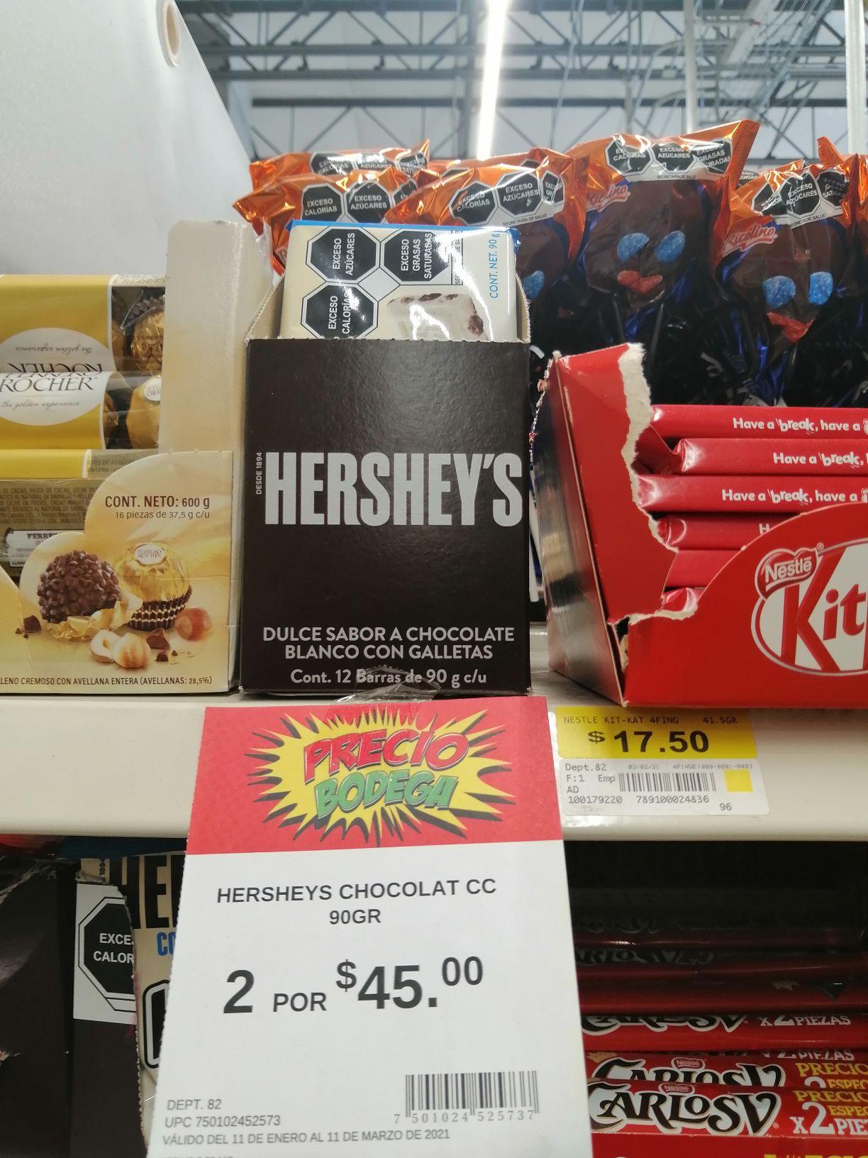 Bodega Aurrera: Chocolate herseys
