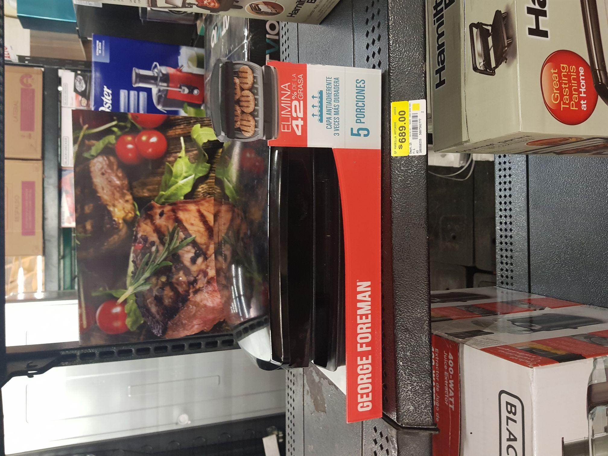 Walmart: Parrilla George Foreman